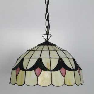14inch Tiffany Baroque Stained Glass Suspended Luminaire E27 110 240V Chain Pendant lights for Home Parlor Dining Room - 3