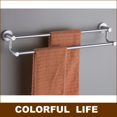 Aluminum Magnesium Alloy, Height Low Double Towel Bars,60cm,Not  Rust,Durable, Easy To Install,Bathroom Hardware In Towel Bars From Home  Improvement On ...