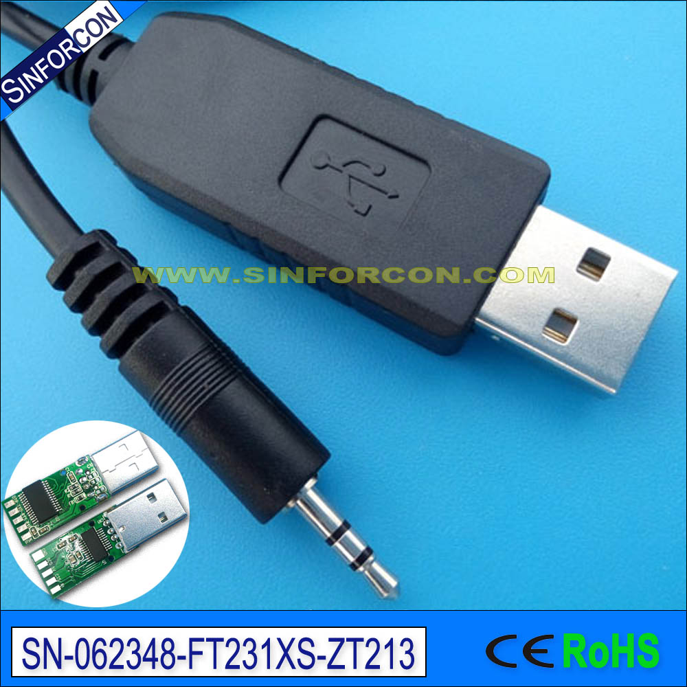 Db9 Rs232 Serial To 35mm Stereo Jack Console Cable For Intel Pin Headphone Pinout Also Usb Diagram On Win7 8 10 Mac Android Ftdi Ft231xs Adapter With 25mm 3p