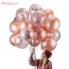 20pcs 12inch Rose Gold Air Ballon Confetti Ballons 18th 21th 30th Birthday Decors Wedding Decoration Bachelorette Party Supplies