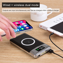 Qi Wireless Charger 10000mAh Dual USB Port Power Bank For iP