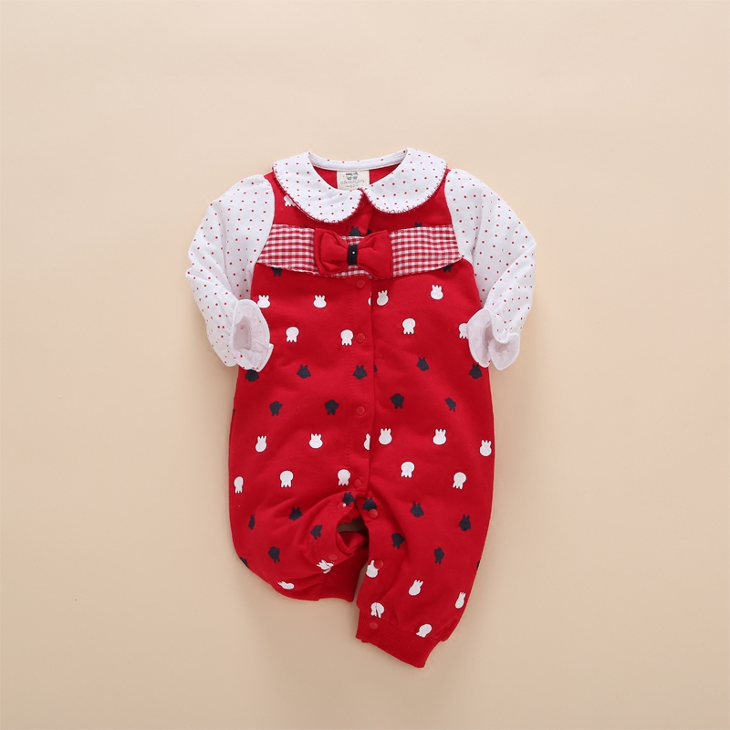 floral toddler baby girl romper red dot ruffles playsuit jumpsuit outfits newborn clothing patterns neonato infantil