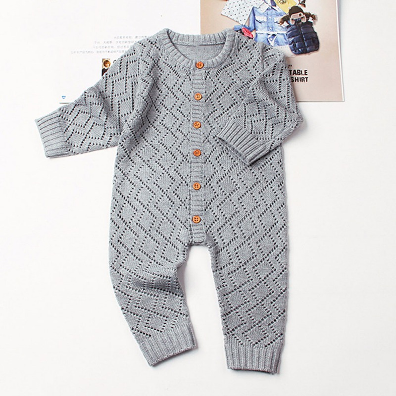 HTB1E2SeaE rK1Rjy0Fcq6zEvVXaW 2019 Newborn baby boy rompers Toddler Jumpsuit Girls Candy Color Knitted Baby Clothes Infant Boy Overall Children Outfit Spring