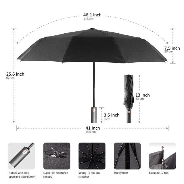 5b1d7e86f Big Strong Fashion Windproof Men Gentle Folding Compact Fully Automatic  Quick-drying Rain High Quality Pongee Women Umbrellas