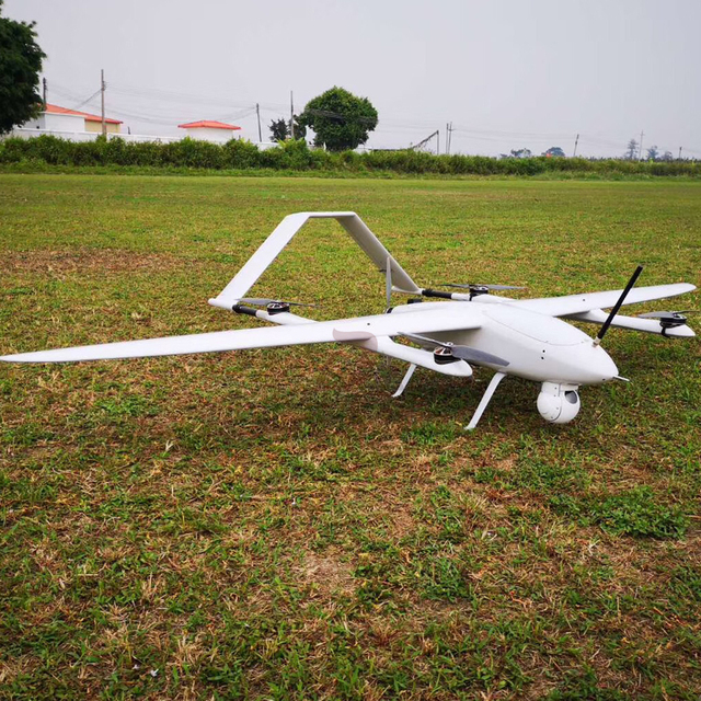 Electric Powered 120 minutes Long Endurance Fixed Wing Aerial Surveillance  Survey Drone UAV With Object Tracking Camera