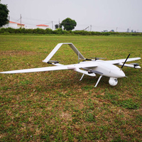 Electric Powered 2 Hours Endurance VTOL Fixed Wing UAV Aerial Video Surveillance 3D Survey Mapping Drone