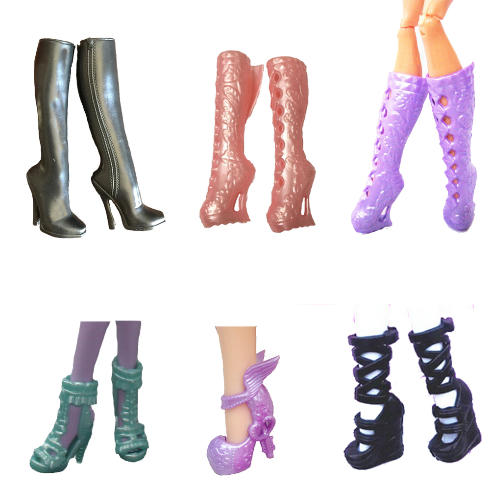 NEW 5pair Boots shoes For Monster High Doll s Shoes Doll BootsFree Shipping Doll Accessories