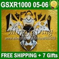 Горячая корона для SUZUKI GSXR1000 K5 05 06 05 06 черный белый GSX R1000 GSXR 1000 2005 2006 472 GSX R1000 K5 обтекатели + 7 подарки