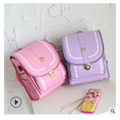 2019 Kid Orthopedic School Bag Children Japan Backpack For Girls PU Hasp Randoseru Japanese Style Kids School Backpack Bags