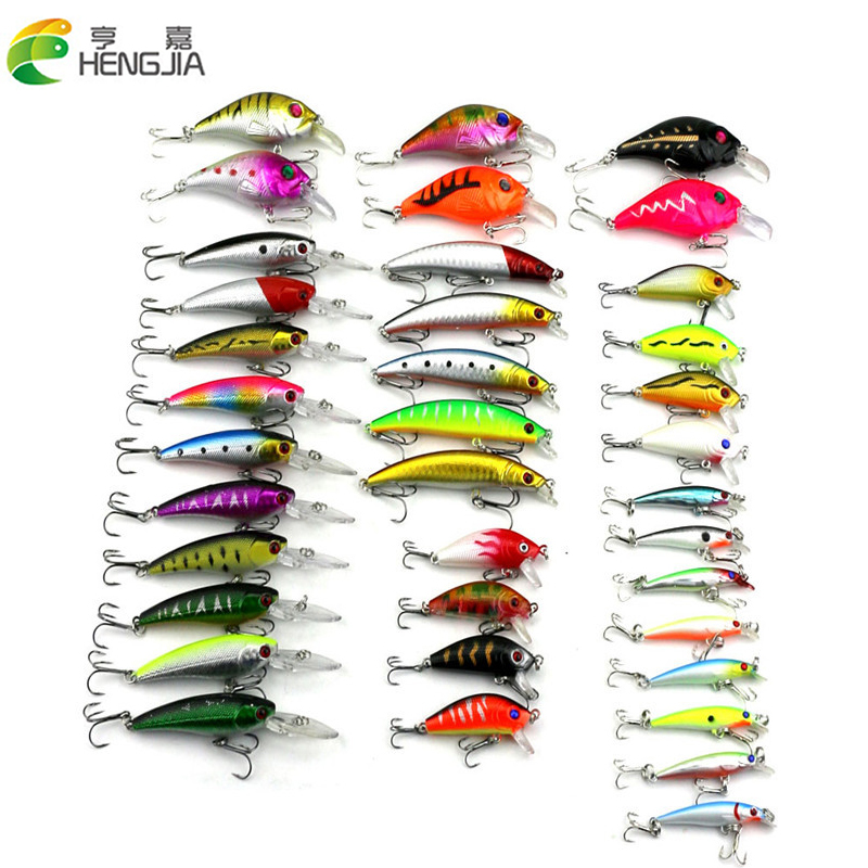 2018 New 37pcs/lot Fishing Lures Set Artificial Fishing Baits Combo Lure Fishing Tackle Wholesale HJ146 Free Shippinng 30pcs set fishing lure kit hard spoon metal frog minnow jig head fishing artificial baits tackle accessories