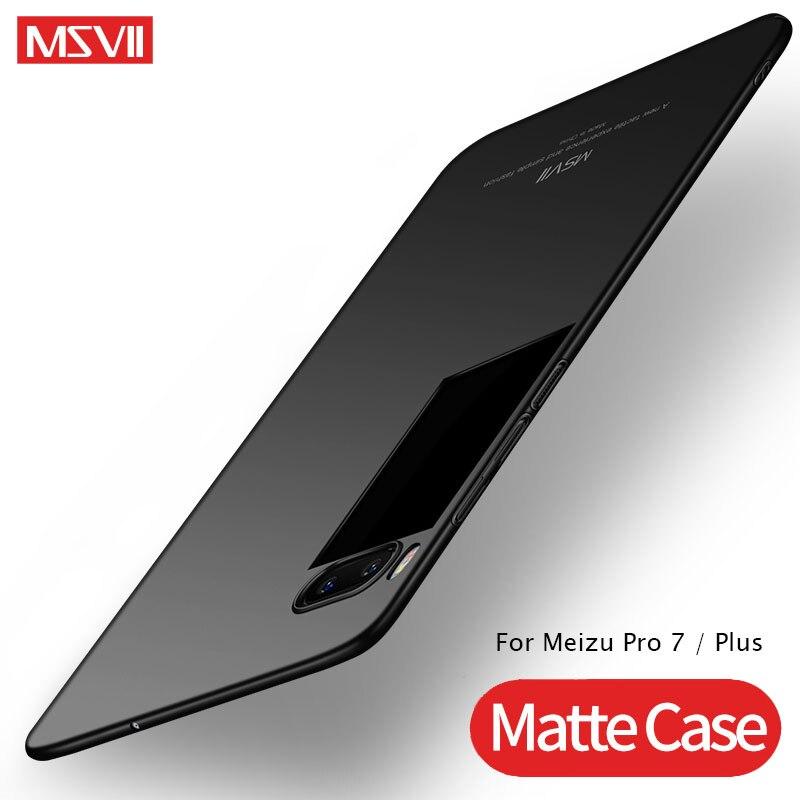 Meizu Pro 7 Plus Case Cover MSVII Silm Matte Back Cover For Meizu Pro 7 Case PC Hard Cover For Meizu 7 Pro Pro7 Plus Phone Cases