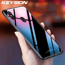 Keysion Case untuk Xiao Mi Pocophone Pocophone Mewah Mengkilap Kaca Tempered Silikon Lembut Shockproof Hard Cover Xiao Mi Mi Mi X 2 S 3 Max 3(China)