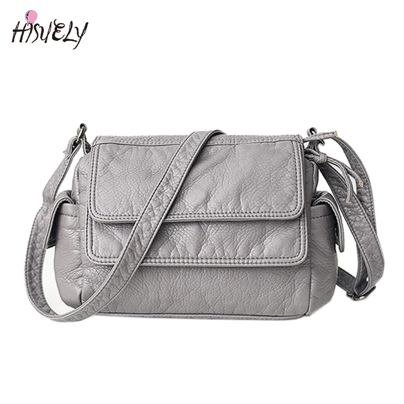 HISUELY Hot Sale Fashion Women Small Handbag for Woman New Casual Shoulder Bags Messenger Bag Female black/gray BAGM6198 2017 fashion women handbag canvas shoulder bag messenger crossbody bags female casual tote travel bag hot sale