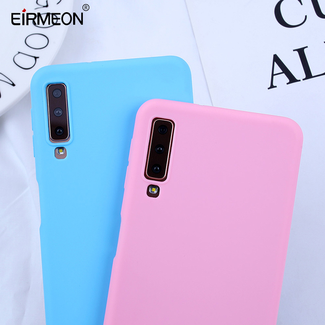 Candy Color Cases For Samsung Galaxy A7 2018 Case Phone Cover For Samsung Galaxy S10E S10 S8 S9Plus A5 A7 2017 A8 A6 Plus 2018