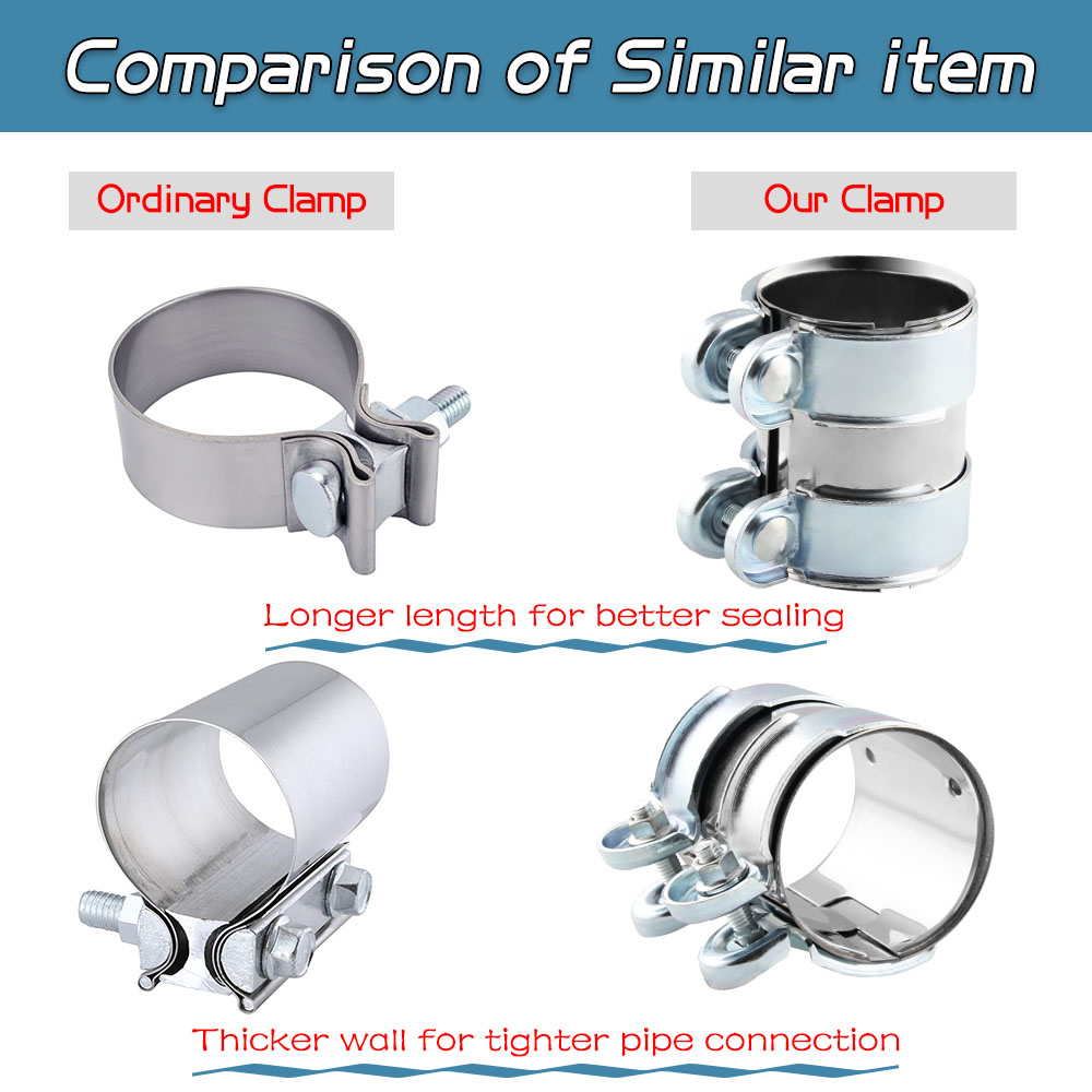 "2/"" Stainless Steel Turbo Exhaust Muffler Exhaust Clamp Bolts"