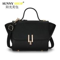 2017 New Women Handbags Trapeze Shoulder Messenger Bags Black Crossbody Bag Luxury Lady Clutch Pu Leather