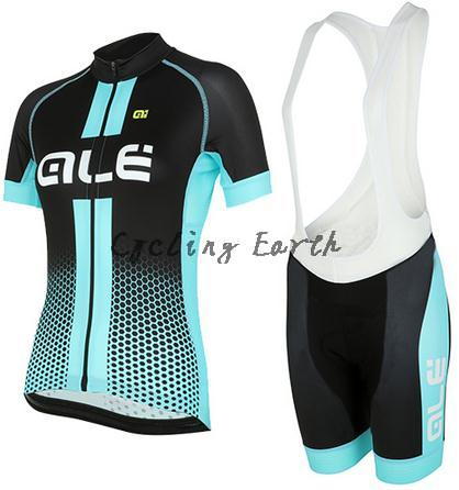 High quality,ALE 2016 women short sleeve cycling jersey bib shorts shirt set MTB bicycle clothes jersey ropa ciclismo,gel pad