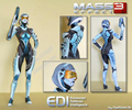 Mass Effect 3 EDI Personagem Do Jogo Papel 3D Modelo De Papel DIY 44 CM