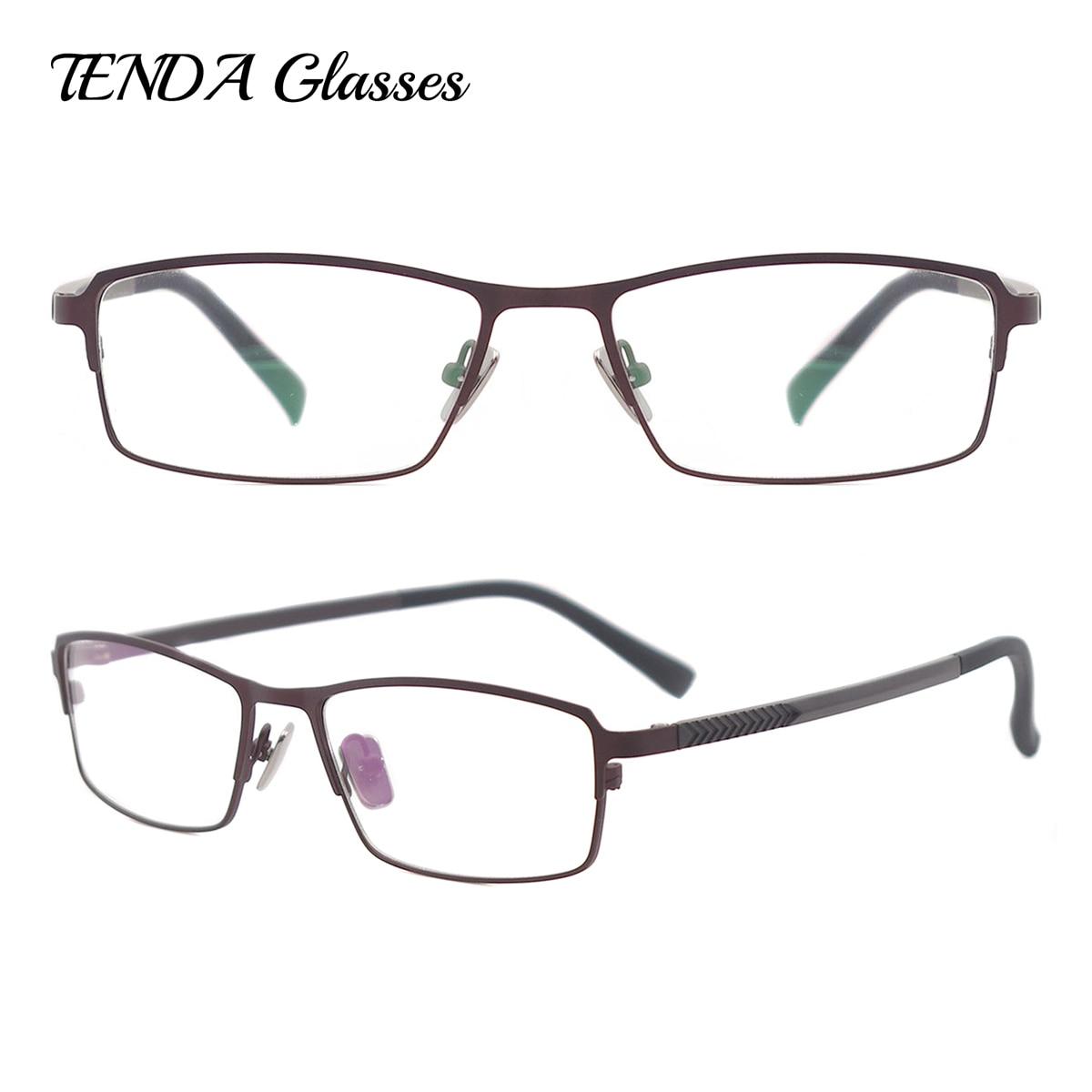 ̿̿̿(•̪ )Metal full RIM rectángulo gafas anteojos recetados clásico ...