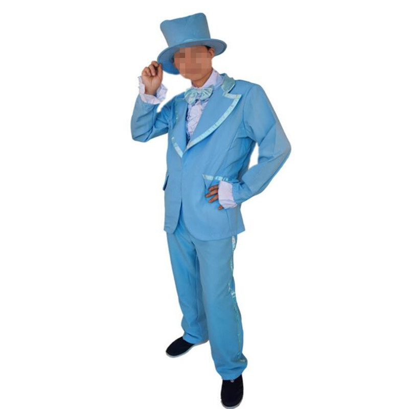 Adults Men Blue Orange Clown Formal Suits Funny Magician Cosplay Stage  Performance Costumes Halloween Dress Party Supplies-in Holidays Costumes  from Novelty ... b4724b3897e9