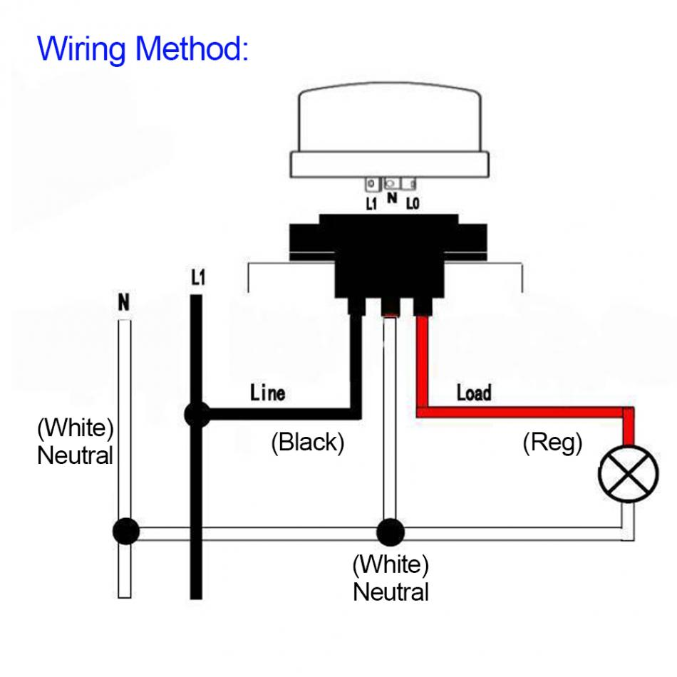 Buy 05w Photoelectric Sensor Switch Control Wiring Diagram This Should Be Installed Overhead The Lamp Ensuring Can Only Detects Sunlight And It Stay Away From Other