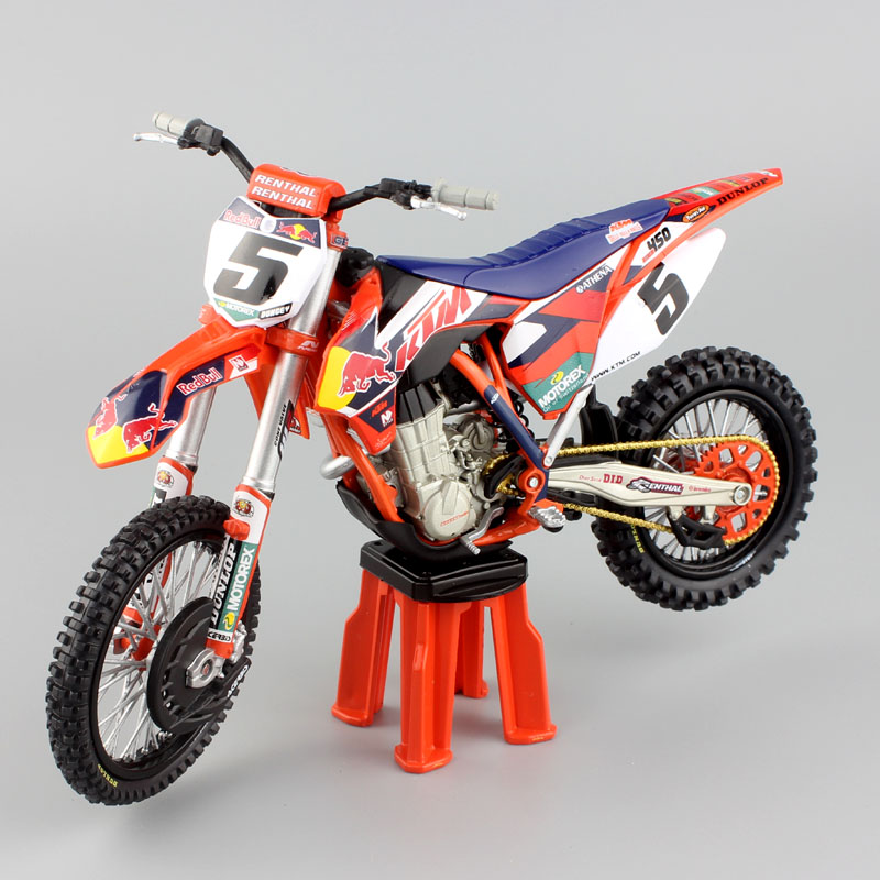 1:12 scale KTM SX-F SXF 450 redbull racing No.5 Ryan Dungey Motocross Motorcycle Die cast modeling red bull off road Enduro toys