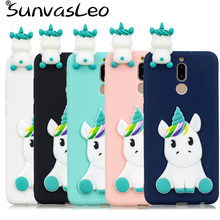лучшая цена 3D Unicorn Soft Silicone Case Phone Cover For Huawei Mate 10/Mate 10 Lite/P10/P10 Lite/P20/P20 Lite/P20 Pro/P Smart/Honor 7C 7X