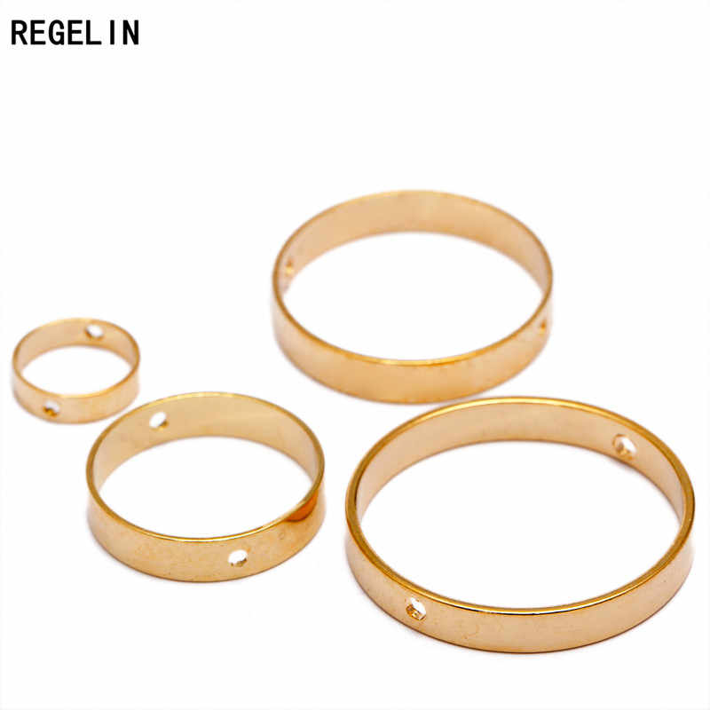 REGELIN Double Hole Spacer Beads Positioning Circle Jump Rings 20pcs/lot Jewelry Making Bead Bracelets DIY Jewelry Making