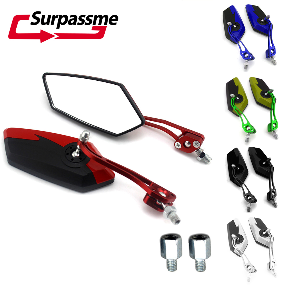 Universal 8mm 10mm Motorcycle Mirrors Motorbike Rearview Mirrors Side Mirrors For Motocross Off-Road Bike Motorbike Accessories