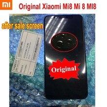 100% 원래 샤오 미 판매 후 스크린 supor amoled lcd 디스플레이 터치 패널 디지타이저 어셈블리 프레임 xiao mi 8 mi 8 mi 8