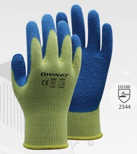Metal and Glass Handling Anti Cut Proof Safety Gloves Aramid Fiber With Latex Crinkle Dipped Resistant Work