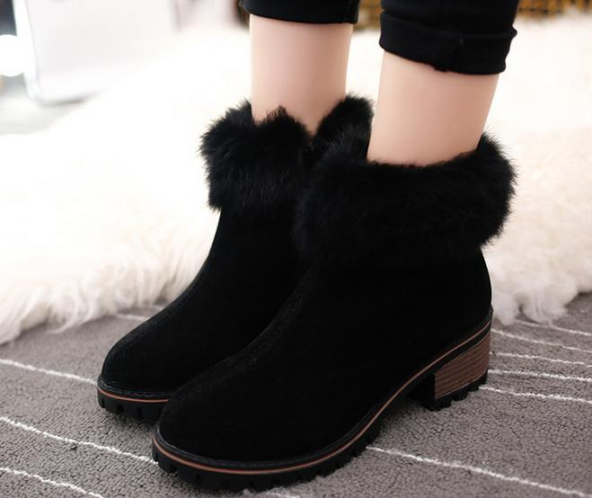 10..women boots 2016 New winter snow boots and cashmere with round warm boot students slip women winter boots