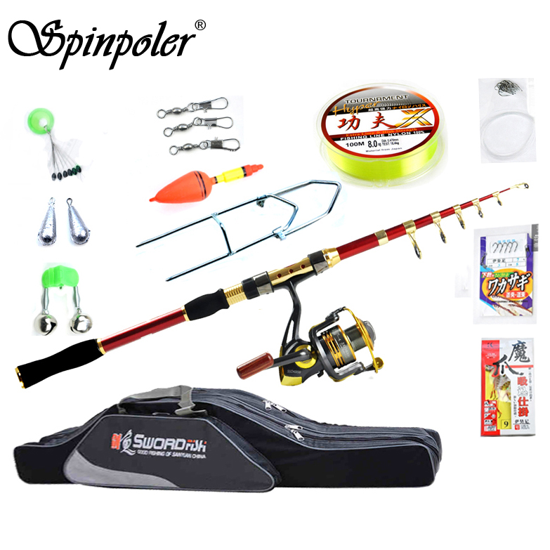 Cheap Telescopic Fishing Rod And Reel Combo