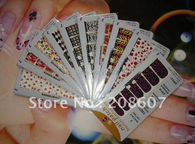 Nail Sticker Freeshipping New Arrivals Product Nail Art Nail Foils Sticker 42Styles Nail Decal Full Tip Patch 3D Metal Sticker