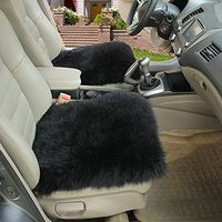 2 Pieces Set Genuine Long Wool Car Seat Breathable Warm Soft Covers Chair Cushion Car Styling