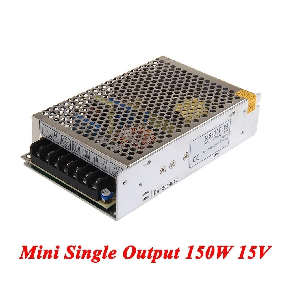 MS-150-15 Mini type switching power supply 150W 15v 10A,Single Output smps For Led driver,AC110V/220V Transformer to DC 15V