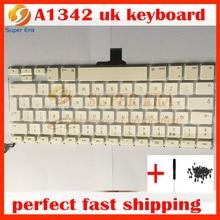 A1342 Великобритании клавир Клавиатура для MacBook Pro 13 ''Unibody MC207 MC516 A1342 Клавиатура Великобритании с Мощность кнопки без topcase