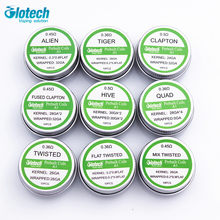Glotech Alien Tiger Fused Clapton premade coils Hive twisted Mixed twisted prebuilt coil for RDA RBA RTA Atomizer DIY vaporizer(China)