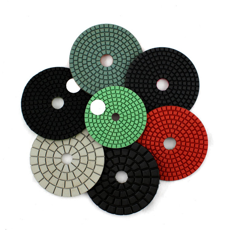 4 Inch/100mm Wet Polishing Pad Granite Polishing Pads,  Marble Floor Flexible Polishing Pads,Buffing Cleaning Pad