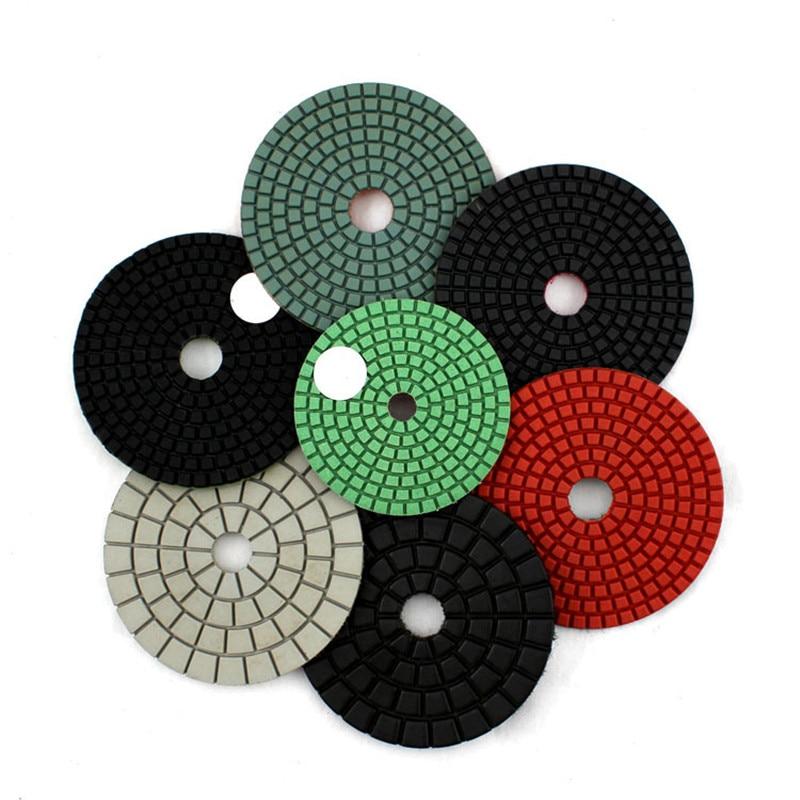 4 Inch/100mm Wet Polishing Pad Granite Polishing Pads,  Marble Floor Flexible Polishing Pads,Buffing Cleaning Pad