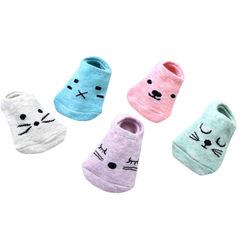 db16236c2 (5 par/lote) calcetines de bebé calcetines de algodón abrigados para bebés  calcetines de piso para recién nacidos calcetines cortos para niñas y niños