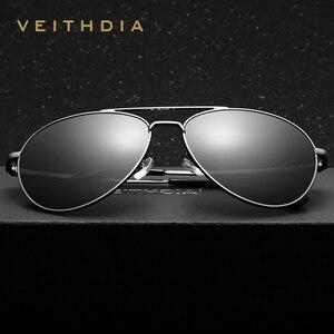Image 3 - Veithdia unisex fashion sun glasses 편광 코팅 거울 선글라스 oculos de sol feminino 안경 남성용/여성용 2736