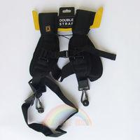 High quality Double Shoulder Belt Strap Black Professional QUICK STRAP For Two Video Cameras SLR DSLR