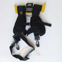 Высококачественный двойной ремень на плечо черный Профессиональный быстрый ремень для двух видеокамер SLR DSLR