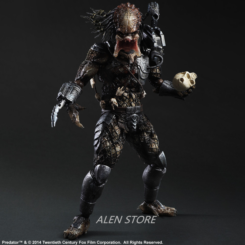 ALEN Movie Figure 27 CM Alien Hunter Primevil Play Arts Kai Generation 2 Predator PVC Action Figure Collectible Toy Model play arts kai street fighter iv 4 gouki akuma pvc action figure collectible model toy 24 cm kt3503