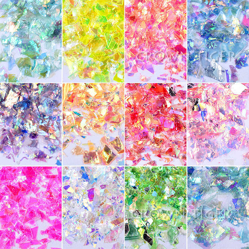 20g glitter/shinny for clear slime decoration filler slime Accessories DIY slime additon/Supplies slime Lizun charm nail art