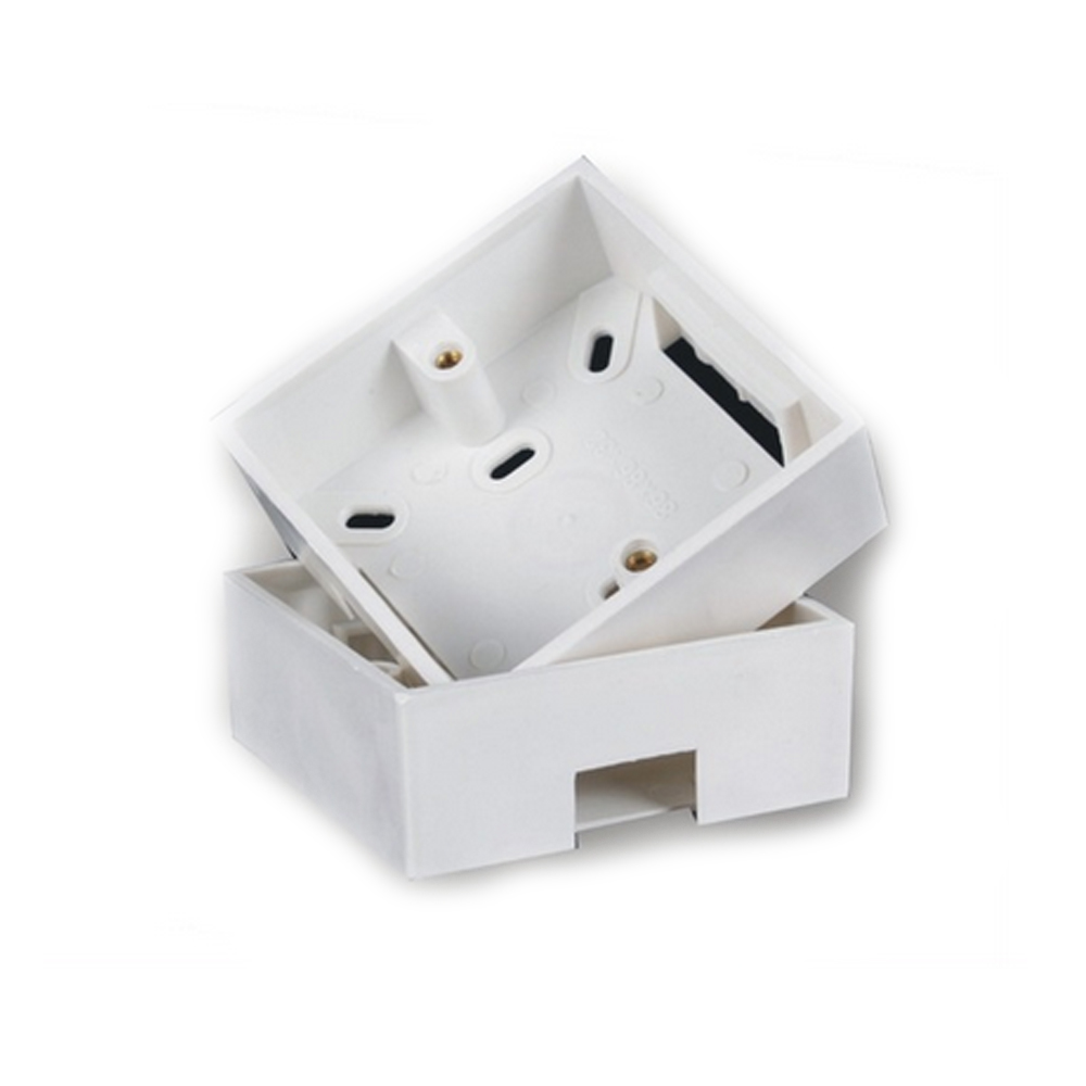 10pcs/lot PVC switch 86 X 86mm Wall Plate Box back plate box outer wall panel uxcell 10pcs 86mm x 86mm x 40mm white pvc single gang wiring mount back box for wall socket