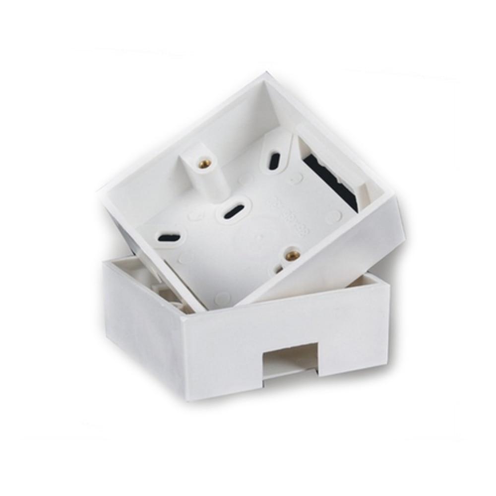 10pcs/lot PVC switch 86 X 86mm Wall Plate Box back plate box outer wall panel