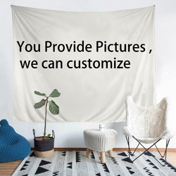 1 SET Provide pictures we can customize Tapestry Print any size Real effect lifelike wall hanging blanket tapestry