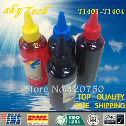 Dye refill ink Suit for Epson T1401-T1404 Cartridges ,suit for Epson Workforce 630 / Workforce 633 etc dye refill ink suit for epson t5846 cartridges suit for epson pm280 pm200 pm240 pm290 pm225 specialized ink
